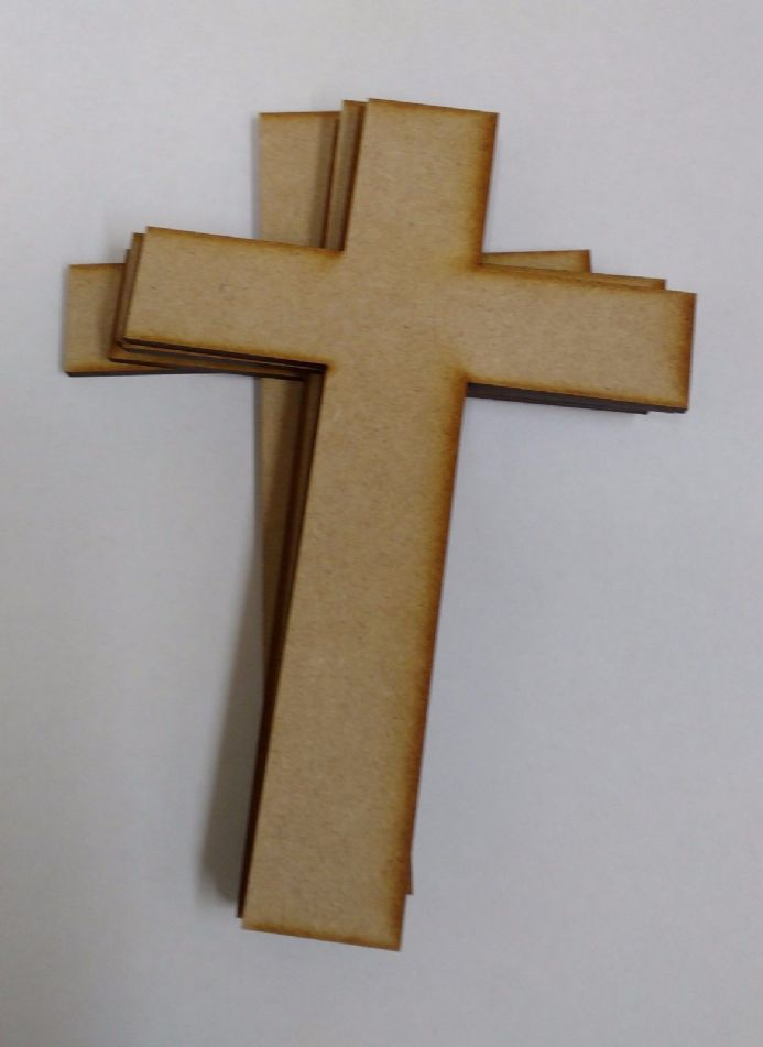 Wooden mdf  large Irish cross craft shapes tags  decor 10 PACK 3mm Thick